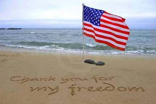 Thank you for my freedom