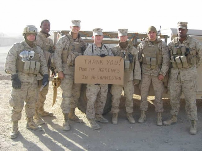 Thanks from the Marines