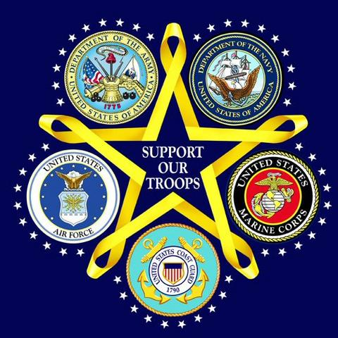 support our troops - blue